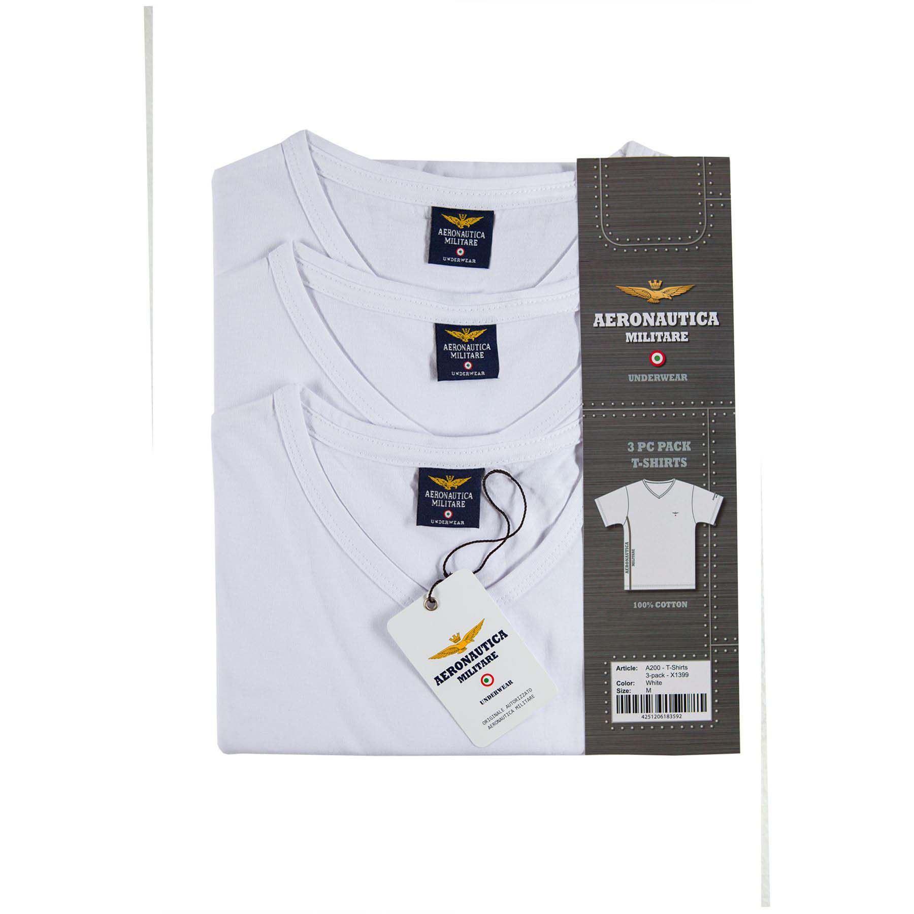 Aeronautica-Militare-3er-Pack-T-Shirts-100-Baumwolle