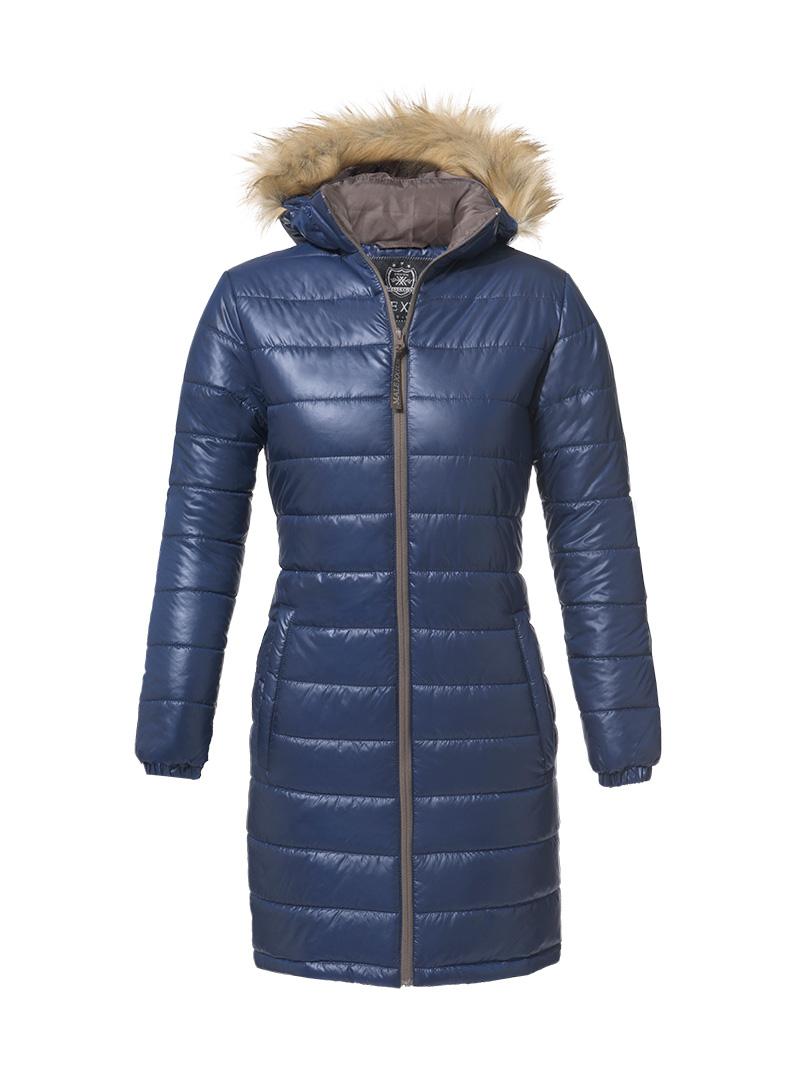 malexxius glossy mantel lucretia damen winterjacke jacke mit daunen mal014 ebay. Black Bedroom Furniture Sets. Home Design Ideas