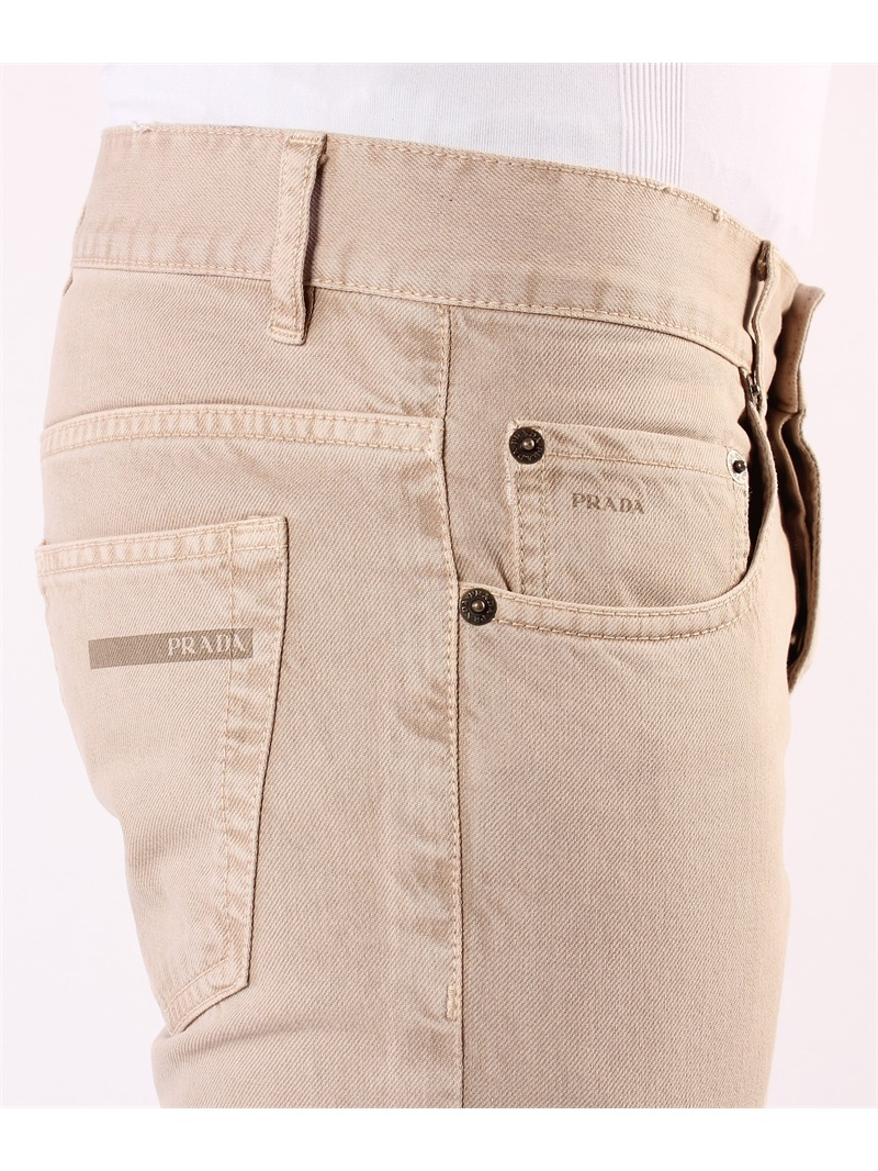 prada herren jeans hose beige pj10 ebay. Black Bedroom Furniture Sets. Home Design Ideas