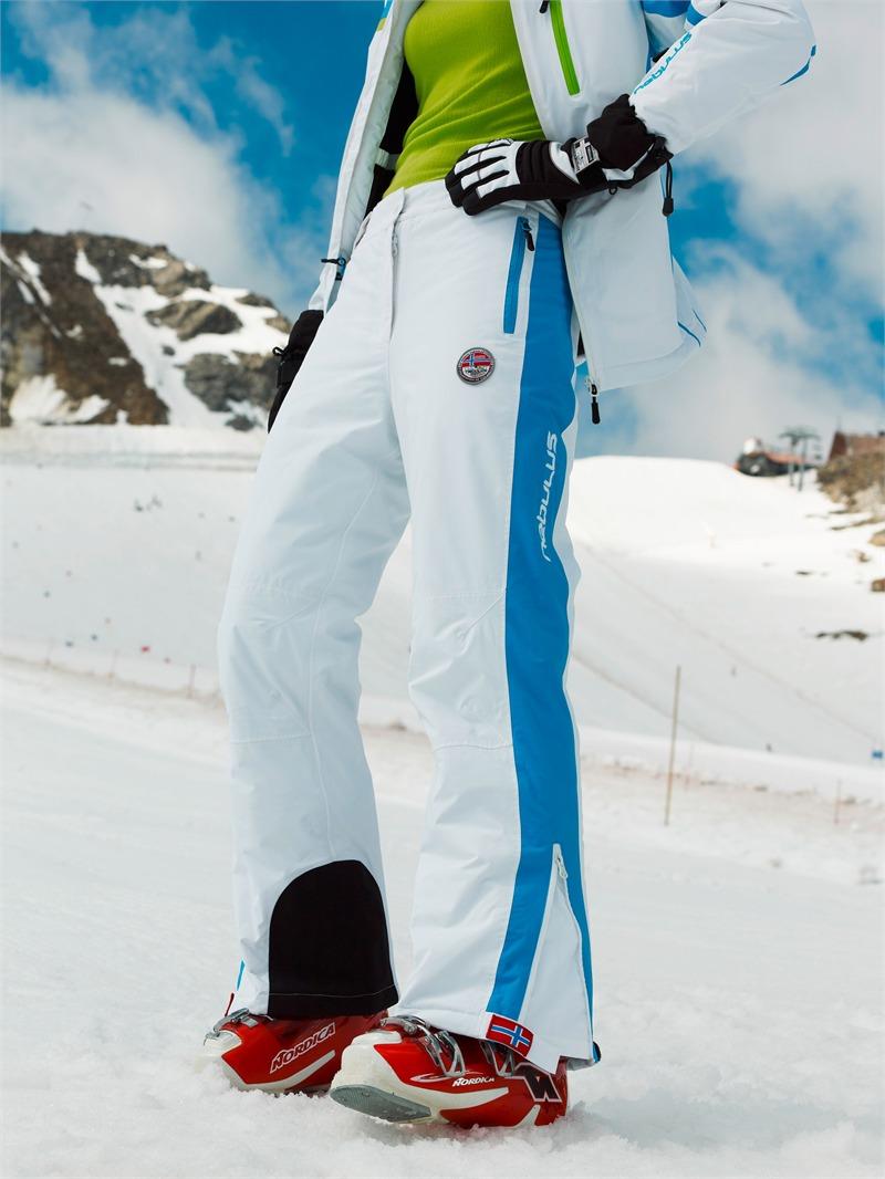 nebulus skihose downhill race damen wei blau mm wassers ule ebay. Black Bedroom Furniture Sets. Home Design Ideas