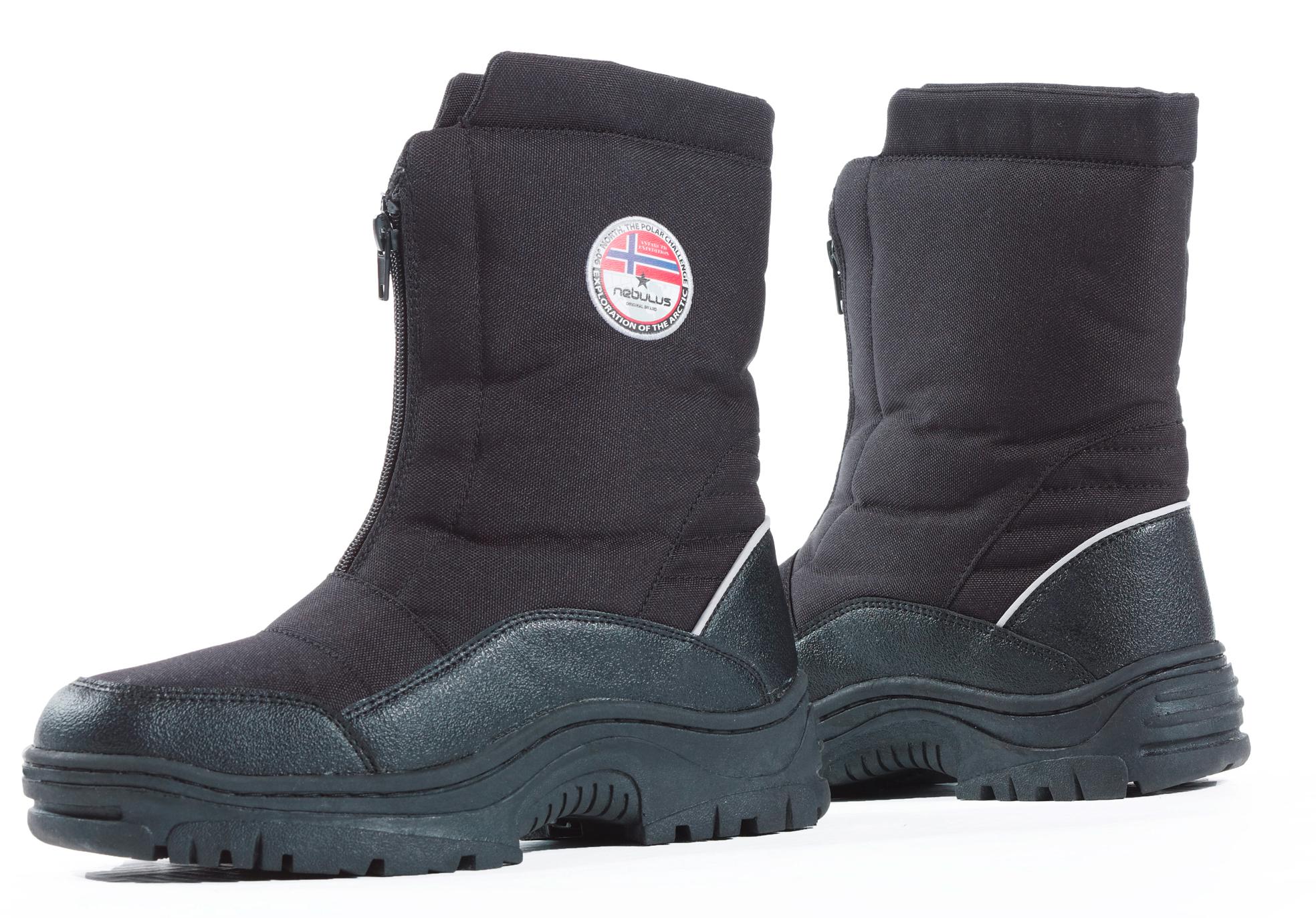 nebulus stiefel herren winterstiefel schwarz 43 schneeschuhe boots. Black Bedroom Furniture Sets. Home Design Ideas
