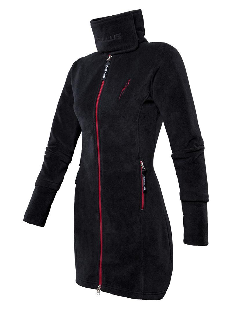 nebulus fleecemantel coat s 36 damen schwarz. Black Bedroom Furniture Sets. Home Design Ideas