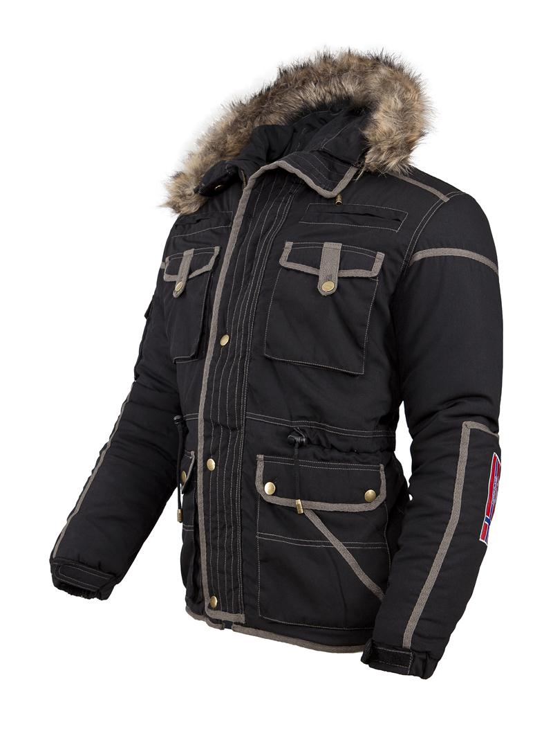 winterjacke parka gstaad jacke mit fellkragen herren schwarz q305. Black Bedroom Furniture Sets. Home Design Ideas
