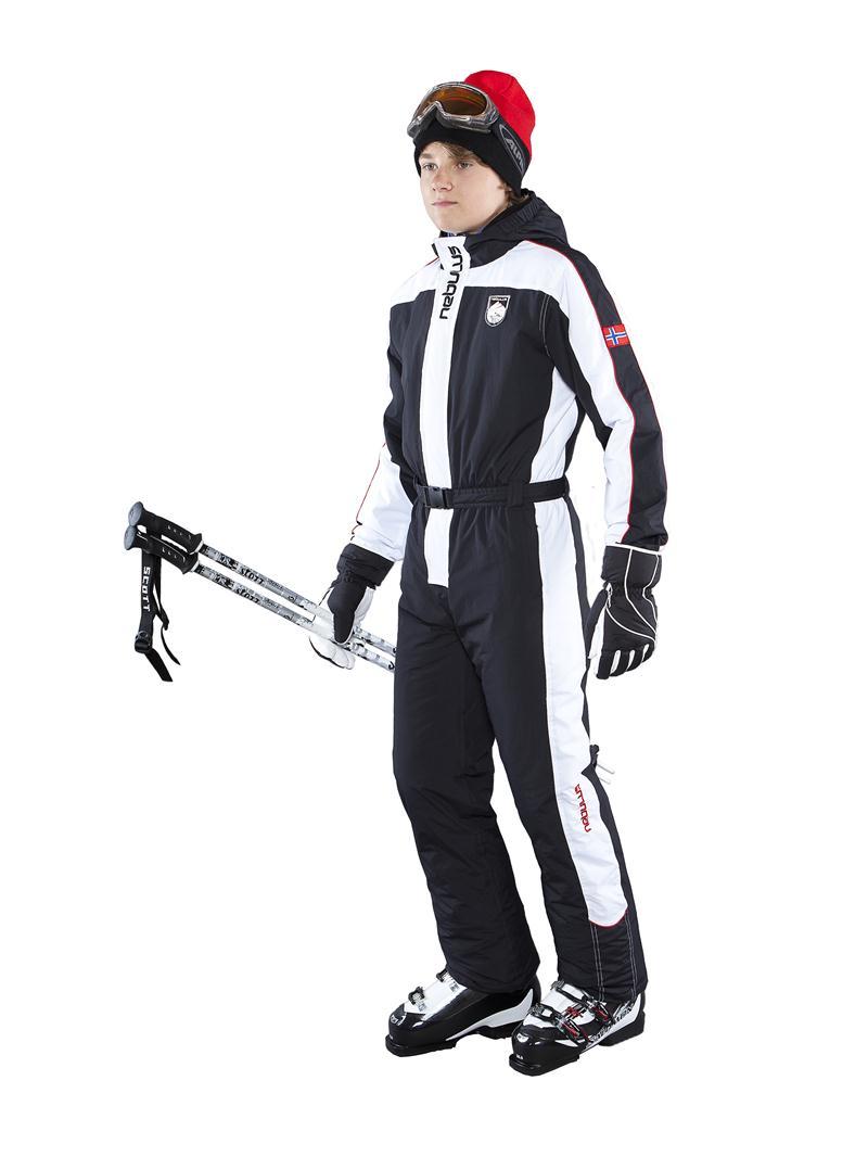 NEBULUS-SKIOVERALL-COOPER-Jugend-schwarz-Schneeanzug-Skijacke-Jacke-Q677