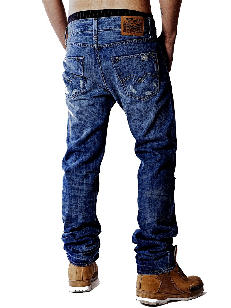 replay jeans jennon m909 hose used look blau ebay. Black Bedroom Furniture Sets. Home Design Ideas