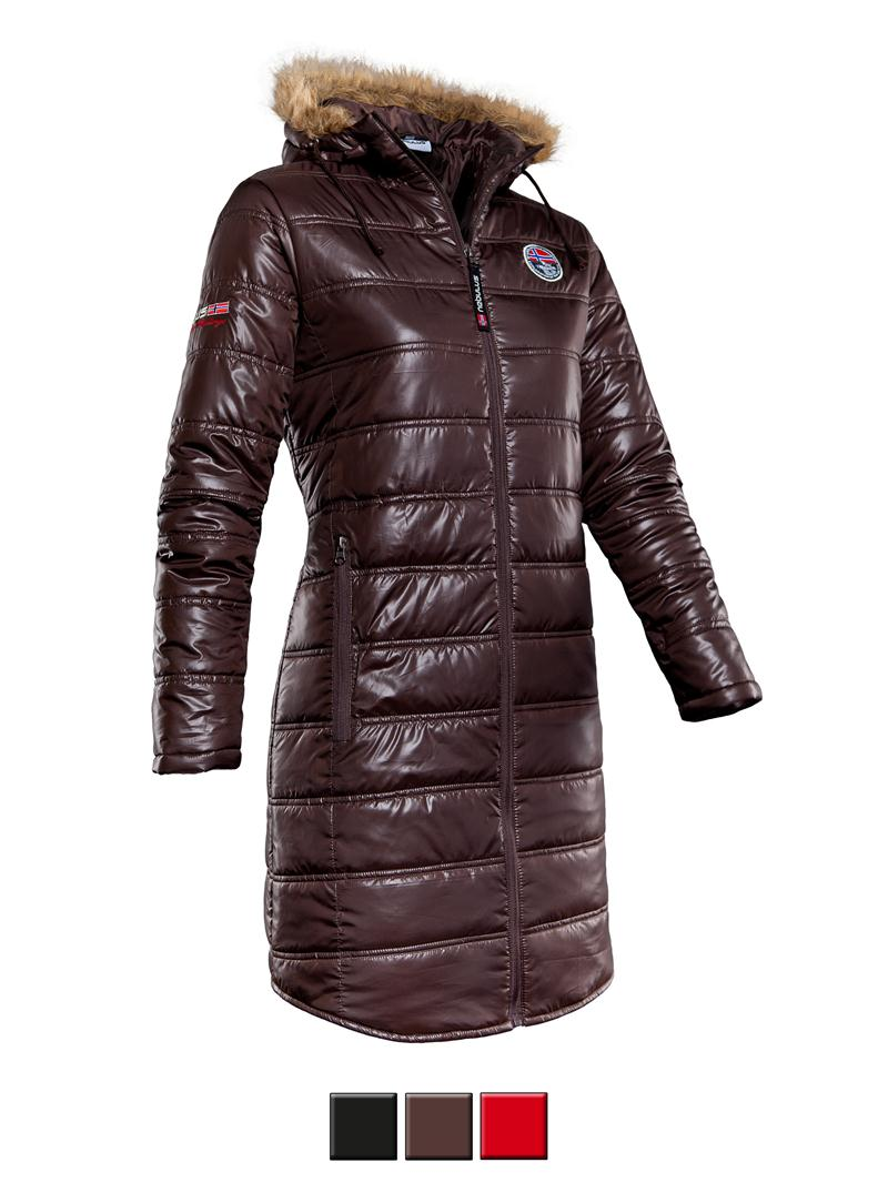 nebulus wintermantel chamonix damen schwarz braun rot jacke w041 ebay. Black Bedroom Furniture Sets. Home Design Ideas