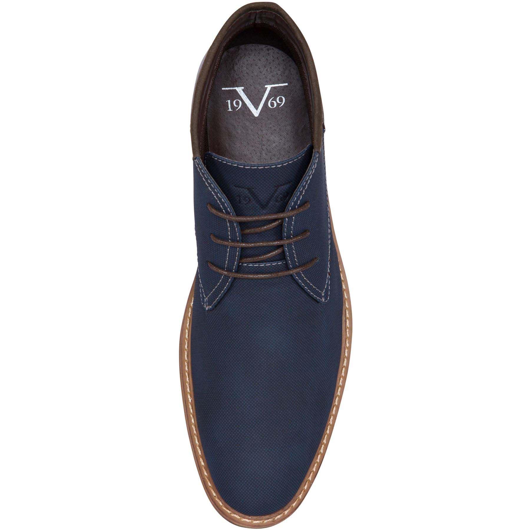 19V69 Chaussures homme 41 Bleu marine 20748125795