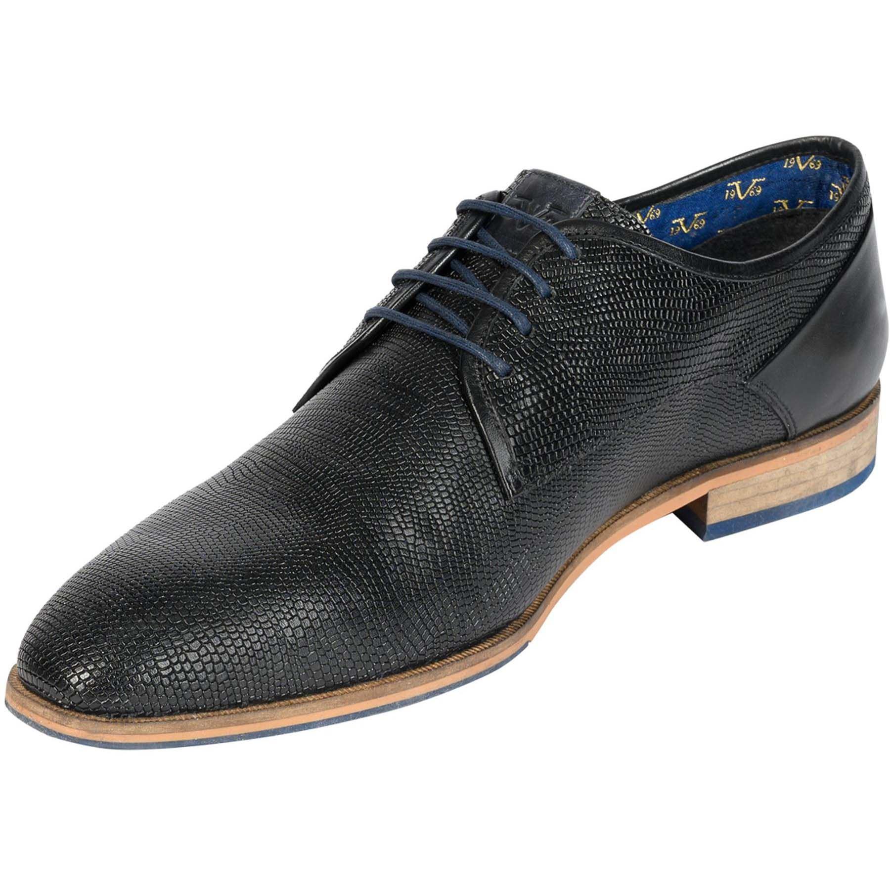 19v69 Homme Grey Chaussures Dark Cuir 44 En KTl3JFcu1