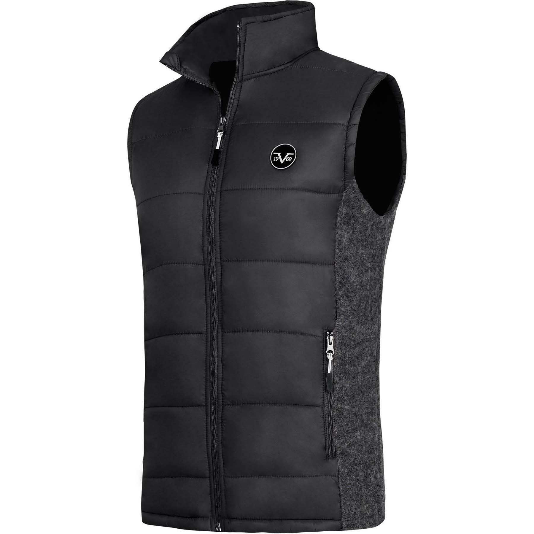 84cef6d134cd 19V69 winter vest men M black