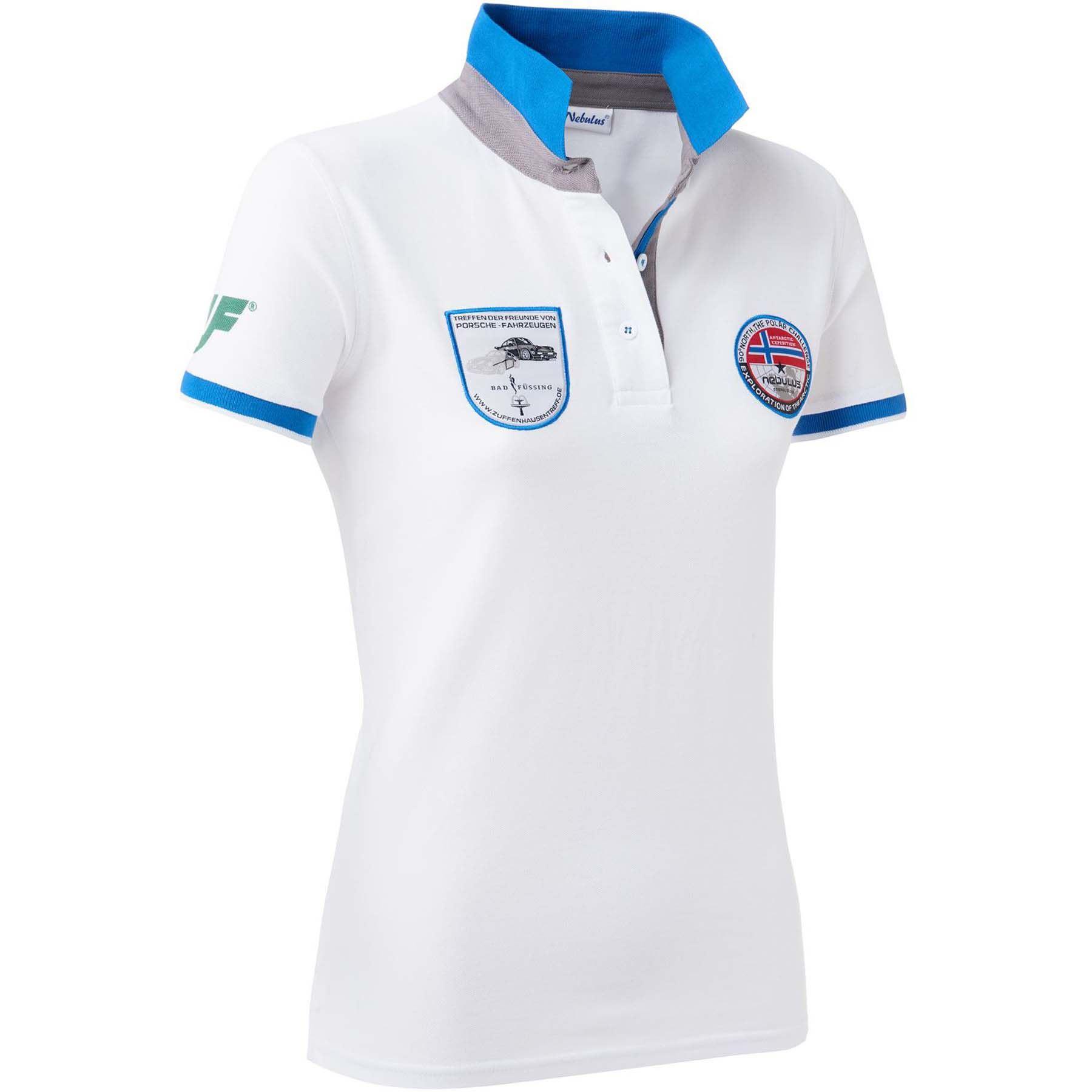 Nebulus Porsche Treffen Polo Shirt Damen Weiss M 38