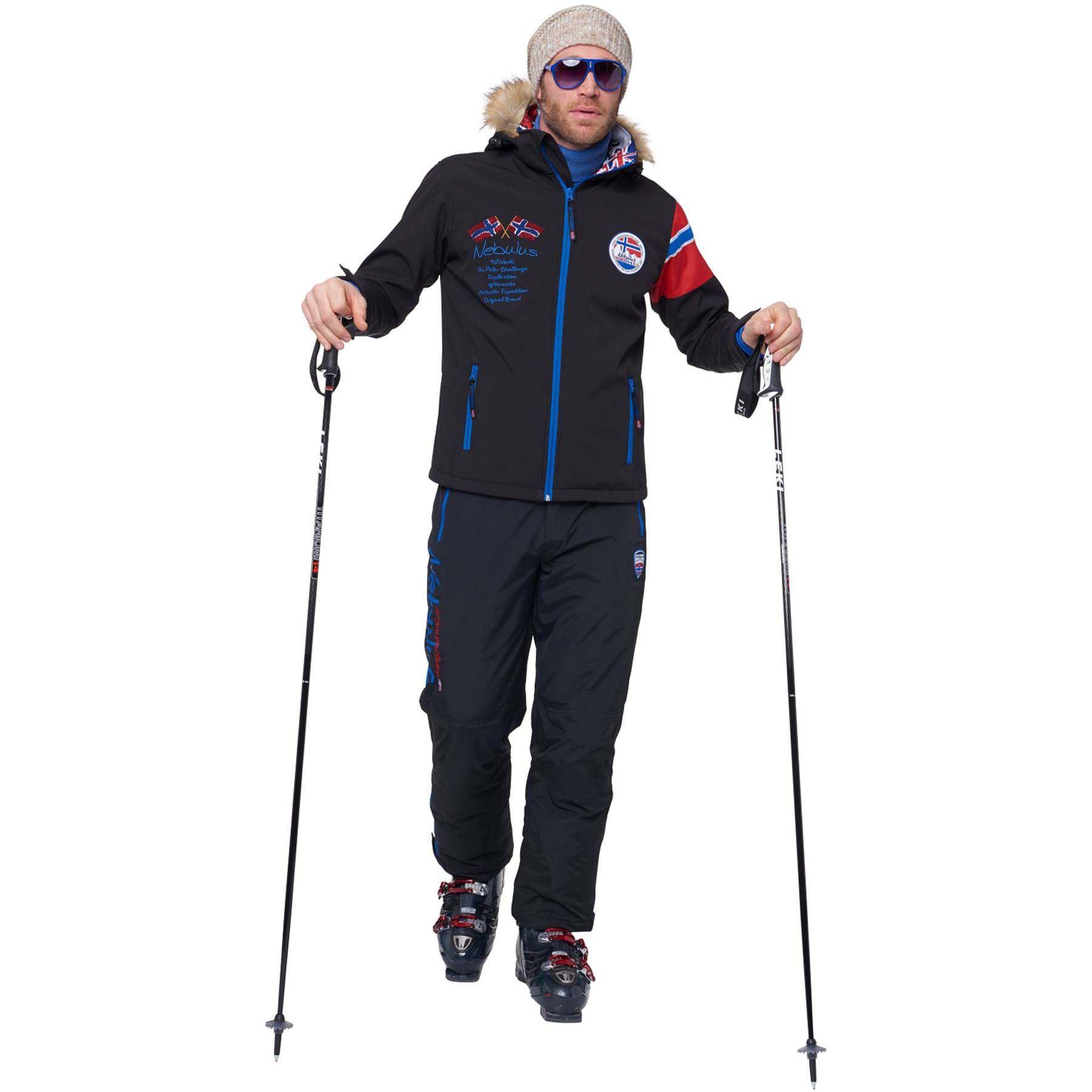 Alpin Noir Homme Veste S D´hiver vHqZw5Uq