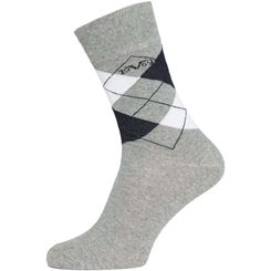 19V69 5 pack business socks checkered