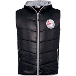 glossy vest with faux fur TAMBA