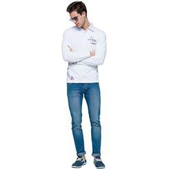 Baumwoll langarm Polo Shirt CANVAS