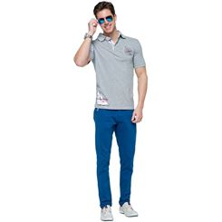 Baumwoll Polo-Shirt DEEP BLUE