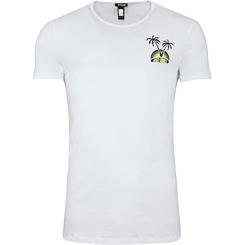 Just Cavalli Shirt C-Neck (Brustlogo-Palmen)