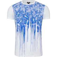 Just Cavalli T-Shirt C-Neck (Blumen-Print)