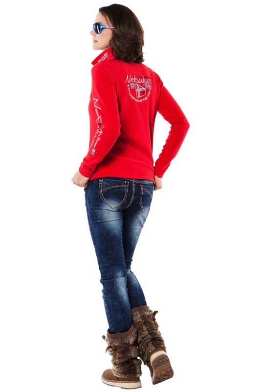 Fleece jumper SKANDINAVIA Women rot