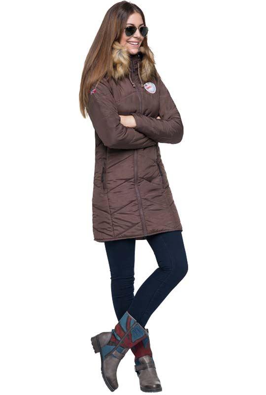 Mantel BROOKLYN Damen dunkelbraun