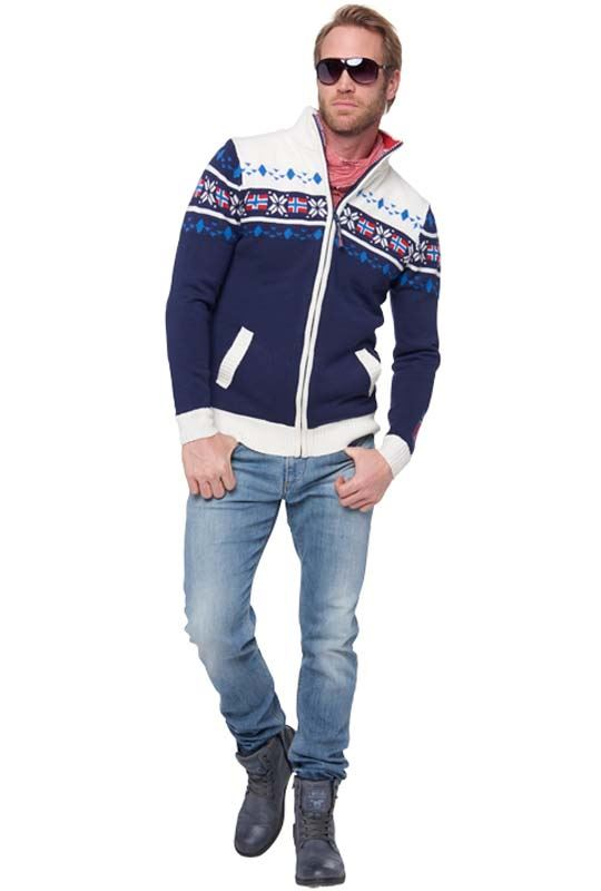 Norwegian jacket CANADIAN Men navy-offwhite