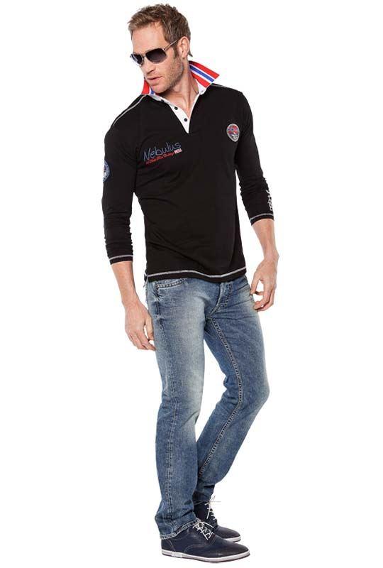 Polo shirt BENTY Men schwarz