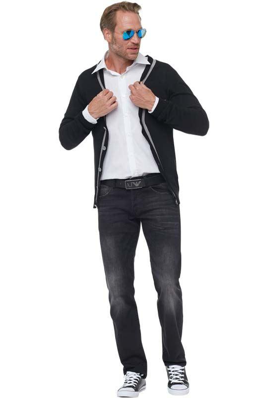 19V69 Cardigan Men schwarz