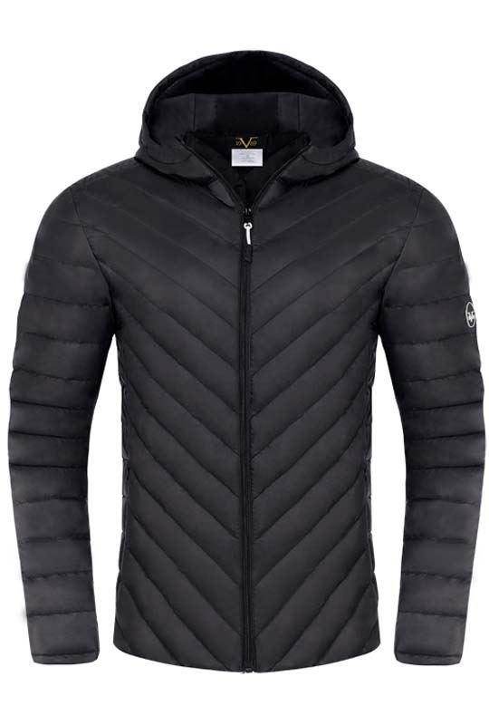 19V69 down jacket Herren schwarz
