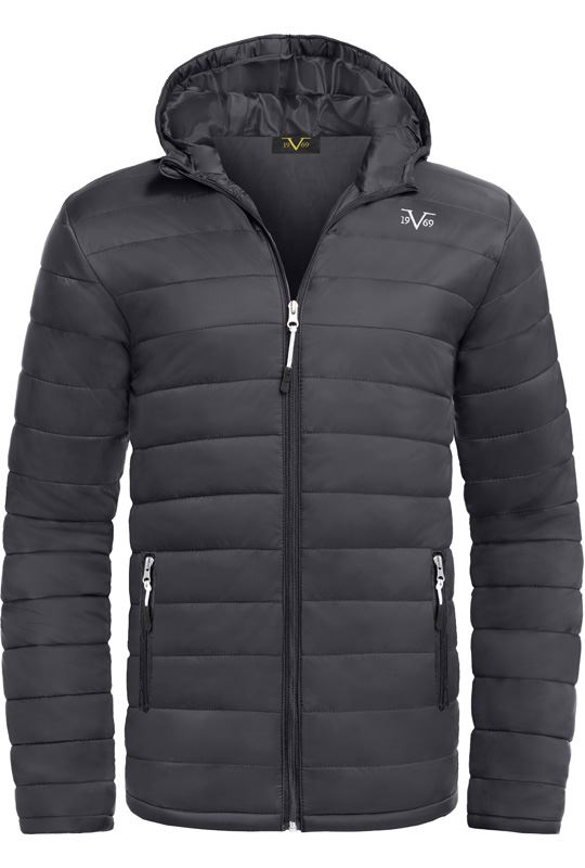 19V69 winter jacket Men schwarz