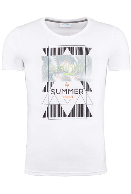Summerfresh T-Shirt BOARDING weiß