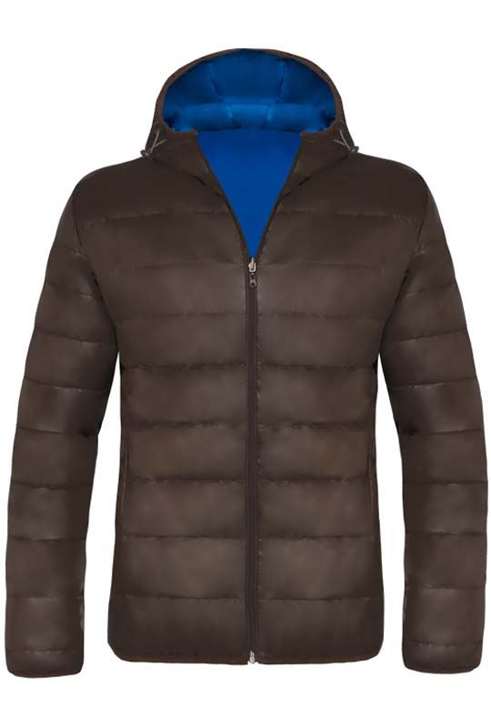 MALEXXIUS Jacket Men braun-kobalt