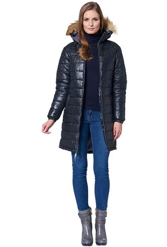 d00ecfea219c MALEXXIUS Glossy Mantel LUCRETIA Damen schwarz XL(42)
