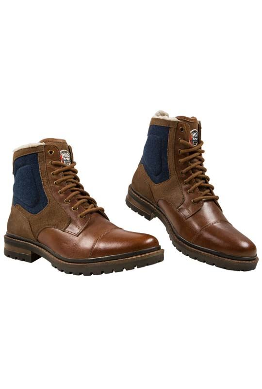 Winter boots BILL Herren hellbraun_blau