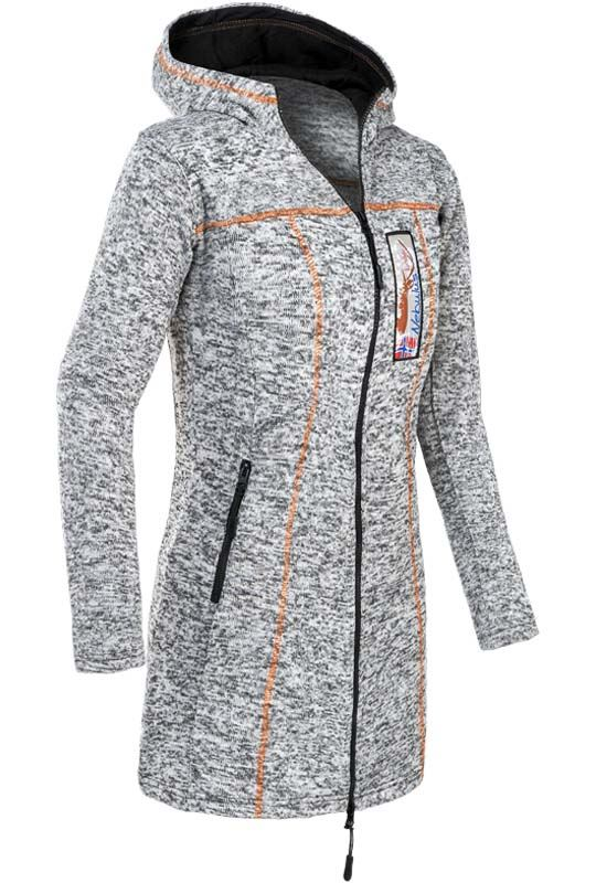 Fleece coat BERN Women schwarz