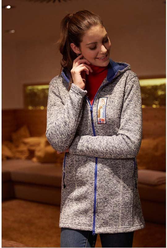 Fleece coat BERN Women dunkelblau
