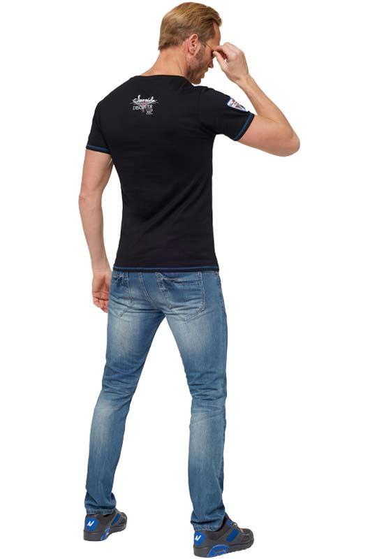 T-Shirt BLUE PALMS Herren schwarz