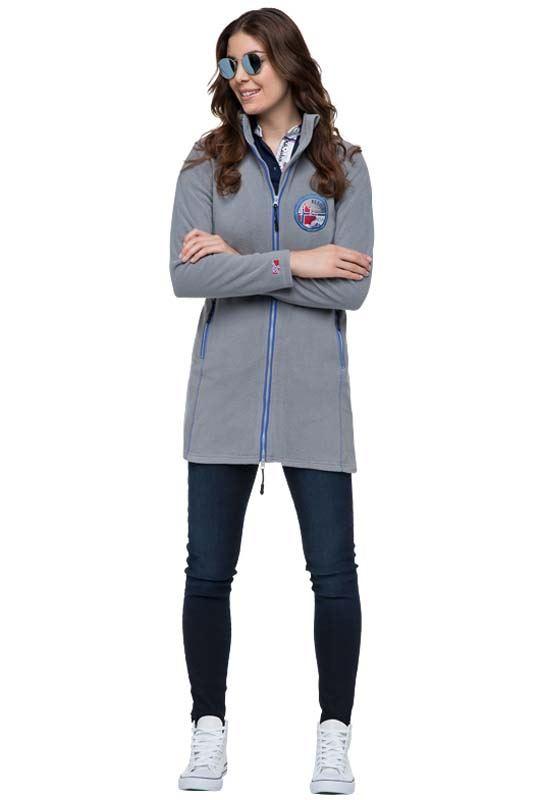 fleece coat CAREN Women hellgrau