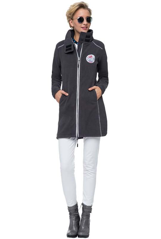 fleece coat COVENTINA Women dunkelgrau