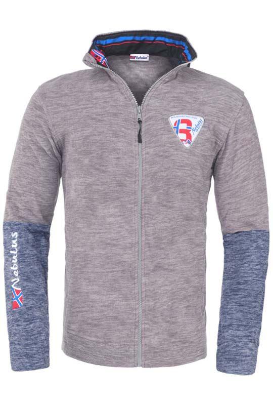 Fleece jacket LARGO Men hellgrau