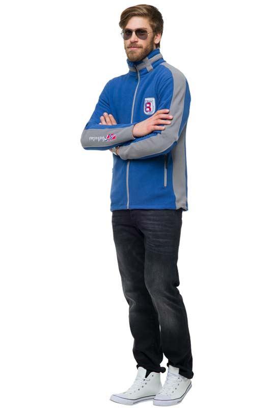 Fleece jacket SKANDER Men hellblau