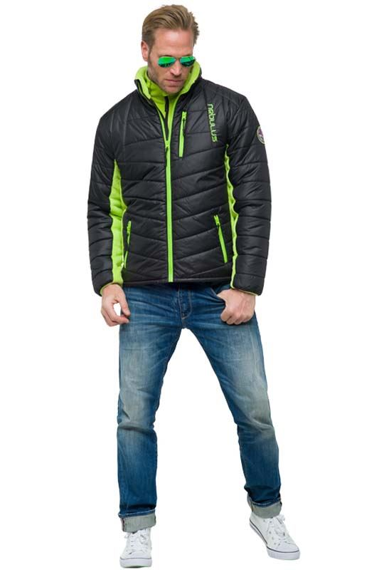 Winterjacket GRAPH Men schwarz-lime