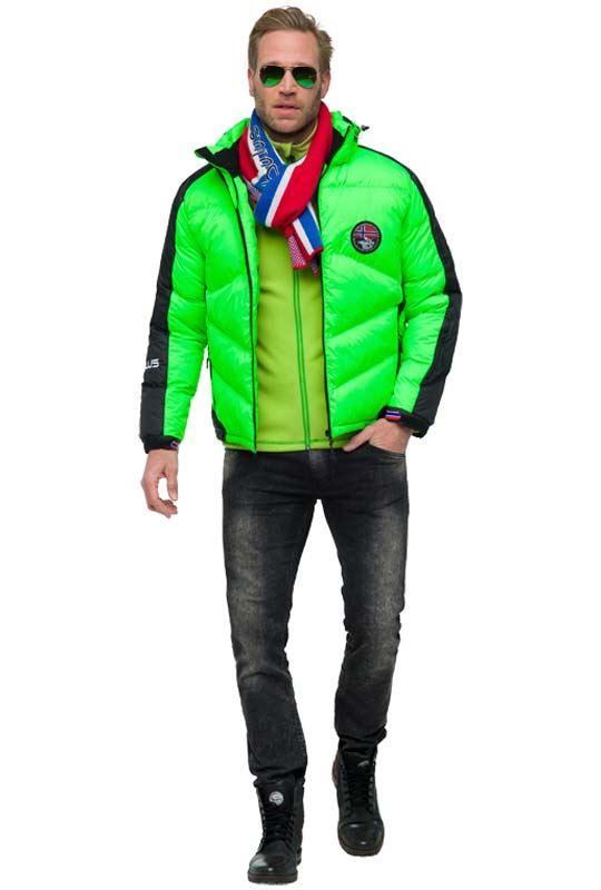 Ski jacket SKIBRÖK Men green flash