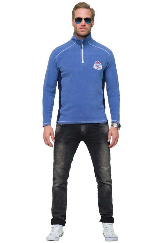 Fleece sweater DRAGO Men hellblau