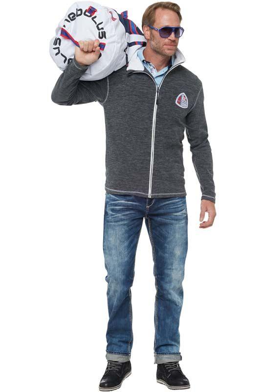 Fleece jacket NORSKANA Men dunkelgrau