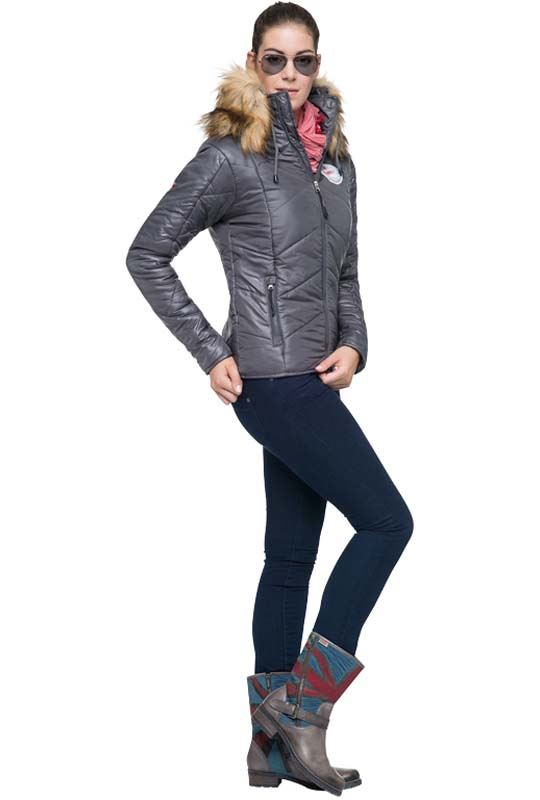Winterjacket CLAIRE Women dunkelgrau