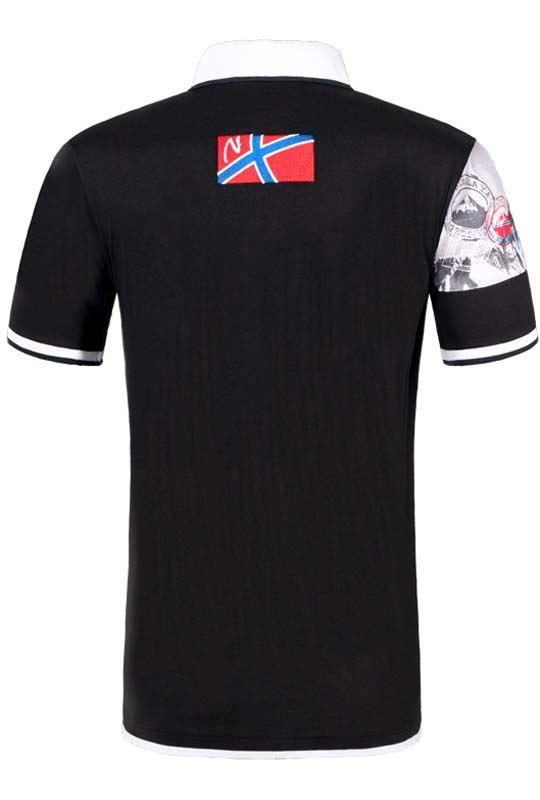 Poloshirt PARAS Herren schwarz-weiß
