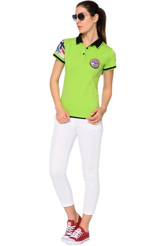 Polo shirt PARAS Women green-black