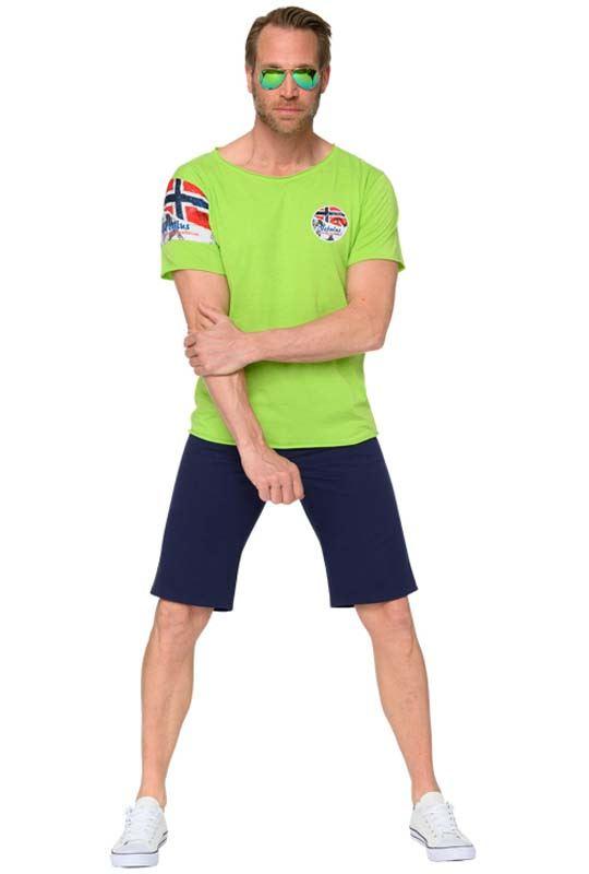 T-Shirt BOA Herren lime-meliert