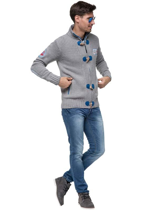 cardigan TORRENTO Men grau