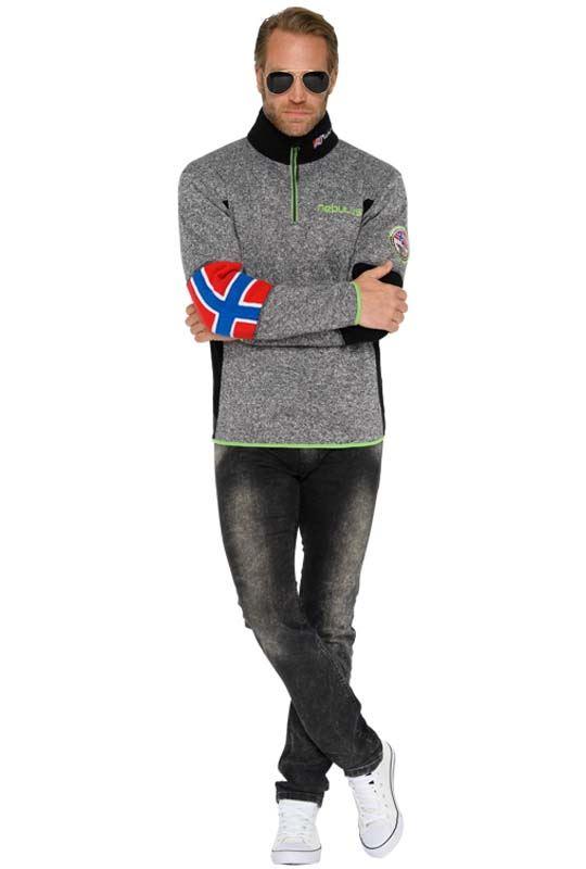Fleece jumper PAO Men antra-grün