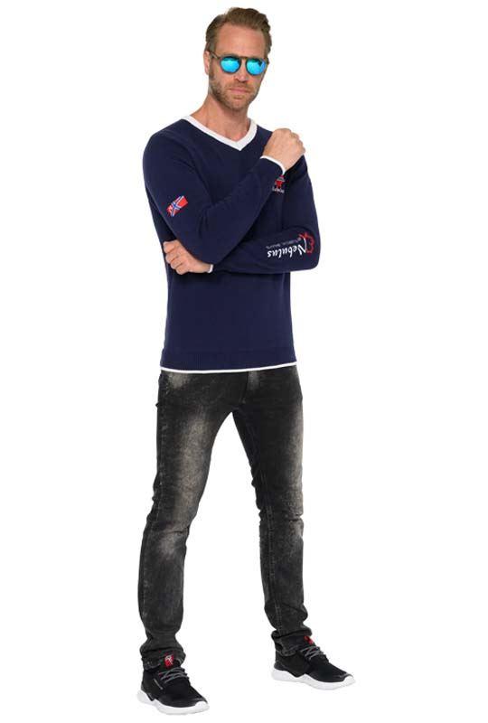 Jumper FENRIS Men navy-weiß